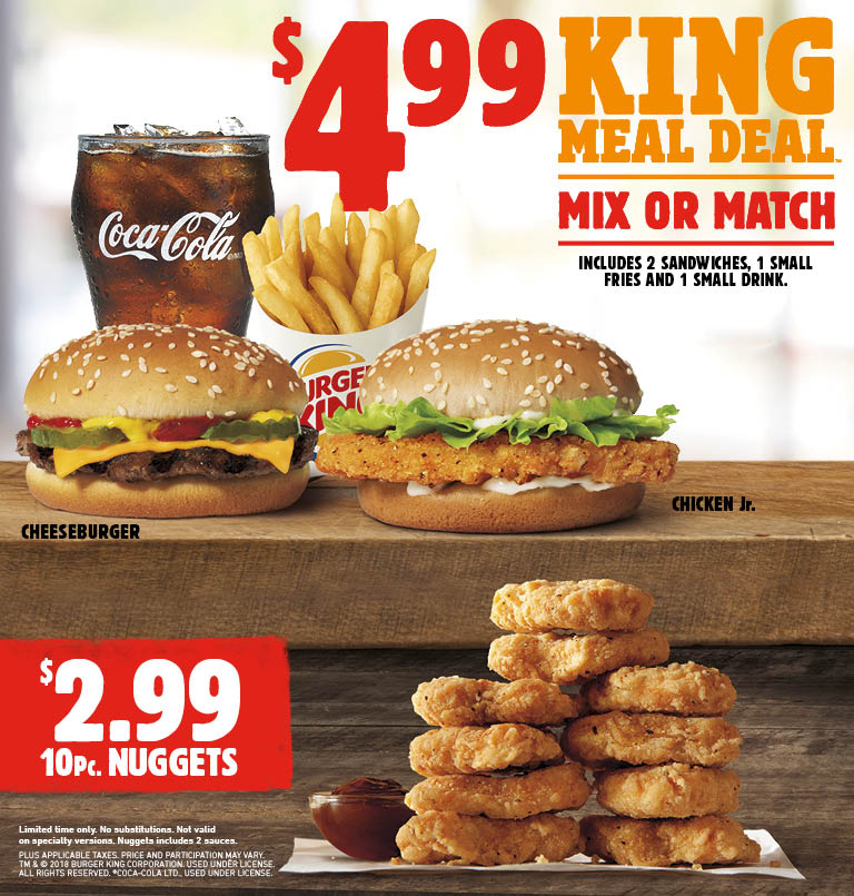 BURGER KINGR Get Fresh Offers 2 For 5