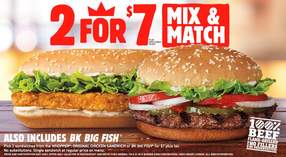 image about Burger King Printable Application named BURGER KING® Purchase Contemporary promotions 2 for $5