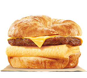 Sausage, Egg & Cheese CROISSAN'WICH | BURGER KING®